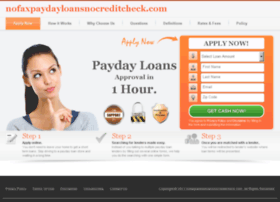 nofaxpaydayloansnocreditcheck.com