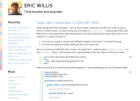 notes.ericwillis.com