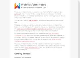 notes.webplatform.org