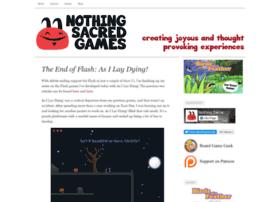 nothingsacredgames.com