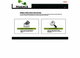 nuance.4myrebate.com
