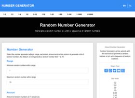 numbergenerator.net