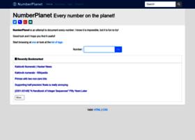 numberplanet.com