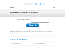 numberscout.com