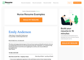 Sample html version of your resume websites and posts on sample html