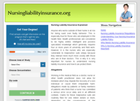 nursingliabilityinsurance.org