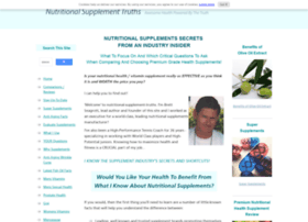 nutritional-supplement-truths.com