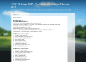 nyseholidays.blogspot.in