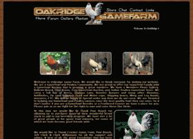 oakridgegamefarm.net