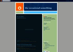 occasionalsomething.blogspot.com