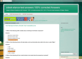 odesk-elance-test-answers.blogspot.in