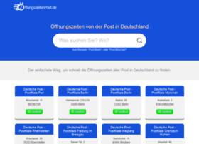 oeffnungszeitenpost.de