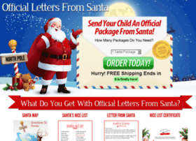 officiallettersfromsanta.com