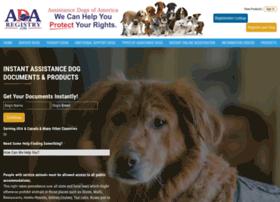 officialservicedogregistry.com