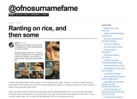 ofnosurnamefame.com
