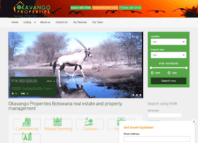 okavangoproperties.com