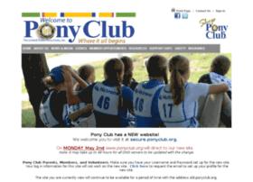 old.ponyclub.org