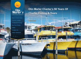 olinmarlercharterboats.com