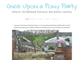 onceuponaponyparty.com