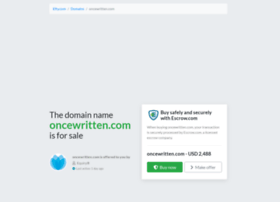 oncewritten.com