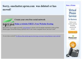 onechatter.spruz.com