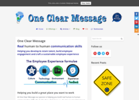 oneclearmessage.co.za