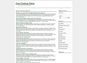 Onefinanceplace.com