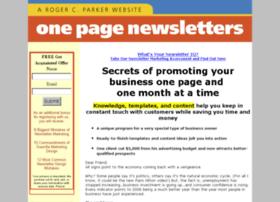 onepagenewsletters.com