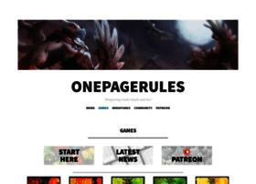 onepagerules.com