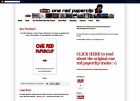 oneredpaperclip.blogspot.com
