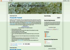onesingleimpression.blogspot.com