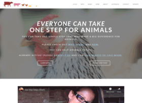 onestepforanimals.net
