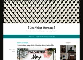 onevelvetmorning.wordpress.com