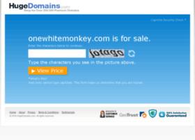 onewhitemonkey.com