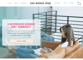 onewomanshop.com