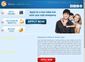 online12monthloans.co.uk