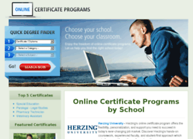 onlinecertificateprograms.org
