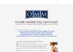 onlinemarketingmanagercertification.com