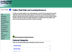 onlinemathlearning.com