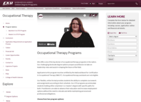 onlineoccupationaltherapyprograms.eku.edu