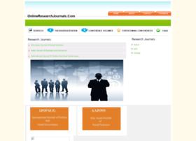 onlineresearchjournals.com