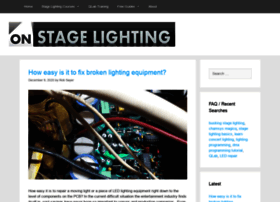onstagelighting.co.uk