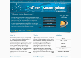 ontimetranscriptions.com