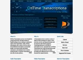 ontimetranscriptions.com