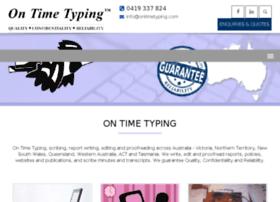 ontimetyping.darwinwebdesign.com.au