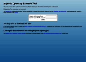 openapp-example.majesticseo.com