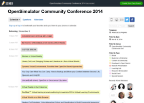 opensimulatorcommunityconfe2014.sched.org