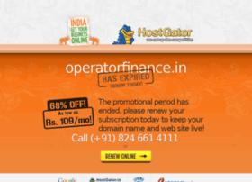 operatorfinance.in