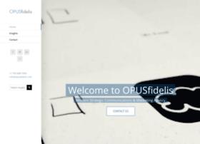 opusfidelis.com