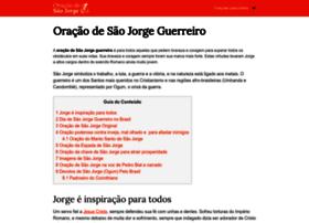oracaodesaojorge.com.br